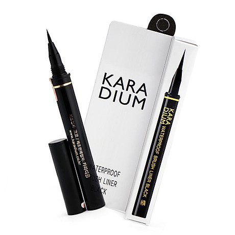 Bút Kẻ Viền Mắt Karadium Waterproof Brush Liner Black 0.55g 2