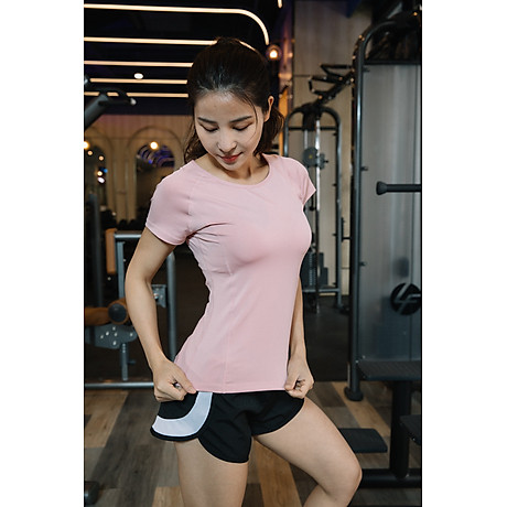 Áo thể thao nữ áo yoga ngắn tay vải khô nhanh phiên bản Hàn Quốc DX-034 3