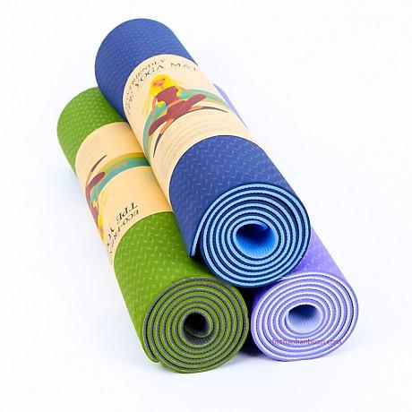 Thảm tập Yoga dày 8 mm giao màu ngẫu nhiên tặng kèm 2 bàn chải hàn quốc 3
