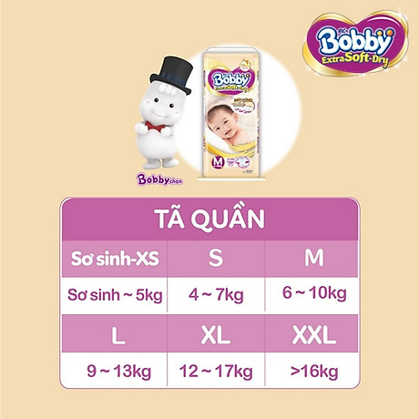 Tã Bobby Quần Extra Soft Dry 4