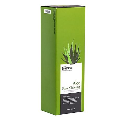 Sữa rửa mặt Benew Aloe Foam Cleansing tinh chất Lô Hội cấp ẩm ngừa mụn (100ml) Hàng Chính Hãng [ Tặng dây cột tóc nơ - màu ngẫu nhiên ] 3