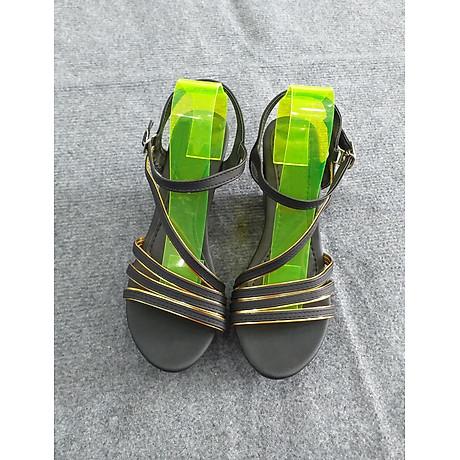 Giày đế xuồng nữ quai hậu - họa tiết đan chéo thanh lịch - Da Xịn NT003 1