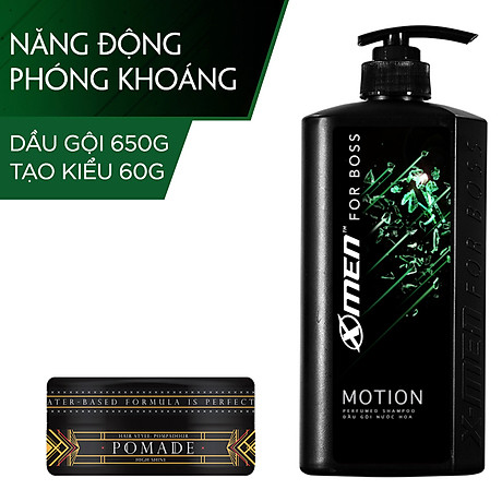 Combo Dầu gội nước hoa X-Men for Boss Motion 650g + Pomade tạo kiểu tóc X-Men For Boss High Hold 60g 1