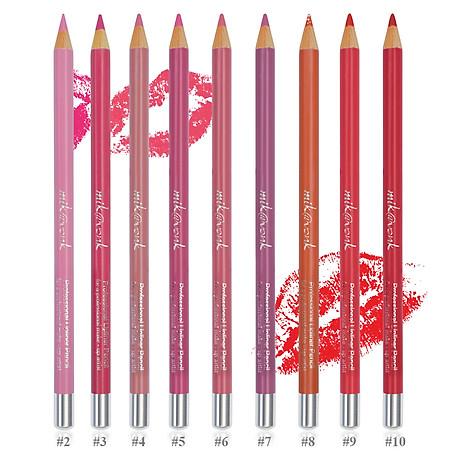 Chì Kẻ Môi Quyến Rũ Mik Vonk Professional Lipliner Pencil Hàn Quốc 05 Màu hồng tặng kèm móc khoá - 1 cây 3