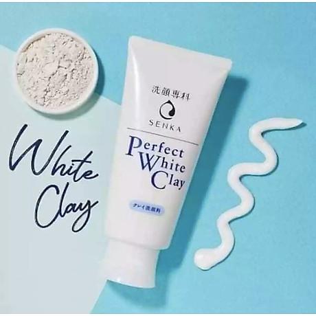 Combo 2 Tuýp Sữa Rửa Mặt Đất Sét Trắng Sạch Sâu Sáng Mịn Senka Perfect White Clay Chiết Xuất Tơ Tằm Dưỡng Ẩm (120g) 4