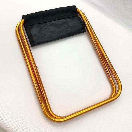 Ghế gấp du lịch mini tiện dụng (Màu ngẫu nhiên) - Tặng kèm miếng thép đa năng 11in1 5