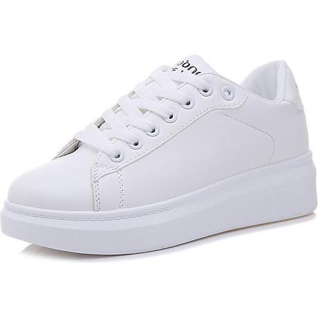 Giày thể thao sneaker nữ phong cách hàn quốc, màu trắng đế cao HMS-Sin1990 size từ 34 đến 40 1