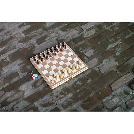 Đồ chơi bằng gỗ tự nhiên an toàn cho bé yêu, cờ vua dành cho trẻ em kiêm hộp đựng và bàn cờ cao cấp - Tặng Kèm Móc Khóa 4Tech. 2