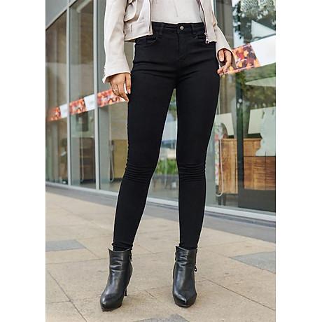 Quần jean ôm đen tuyền 2