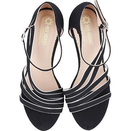 Giày Sandal Nữ Cao Gót Huy Hoàng HT7061 - Đen 7