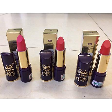 Son thỏi mịn môi lâu phai Naris Ceniciente Lipstick Nhật Bản 3g ( 100 Hồng tươi) + Móc khóa 6
