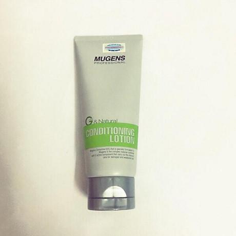 Xả khô dưỡng và tạo kiểu tóc mugens conditioning lotion 100ml 2
