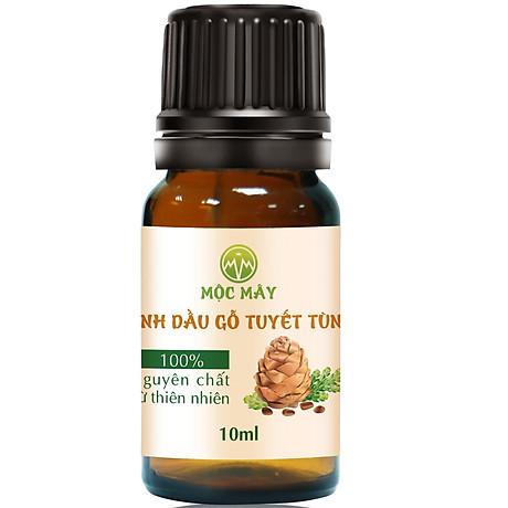 Tinh dầu Gỗ Tuyết Tùng (Hoàng Đàn) 10ml Mộc Mây - tinh dầu thiên nhiên nguyên chất 100% - chất lượng và mùi hương vượt trội, mạnh mẽ nồng nàn, nhưng êm dịu sẽ giúp cho bạn có những giây phút không thể tuyệt vời hơn - Có kiểm định 1
