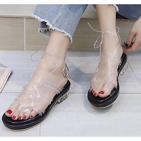 Giày sandal quai trong đế thấp phong cách gladiator S373 1