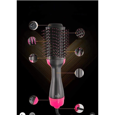 Máy uốn tóc đa năng tạo độ xoăn có sấy khí 3 in1 tặng kèm dây buộc tóc đính đá ( hình ngẫu nhiên) 3