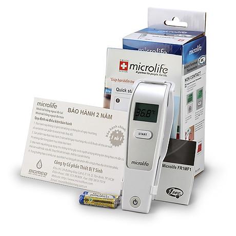 Nhiệt kế hồng ngoại đo trán Microlife FR1MF1 tặng kèm 03 bình trữ sữa Premia 2