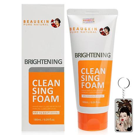 Sữa rửa mặt Beauskin Brightening Cleansing Foam Hàn Quốc 180ml Kèm móc khoá 2