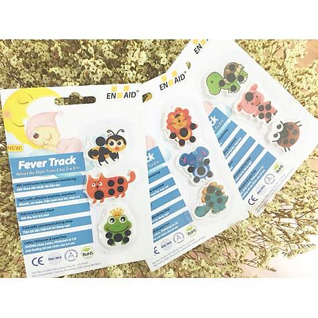 Combo 03 Vỉ Nhiệt Kế Dán Trán Cho Trẻ Em Fever Track 3