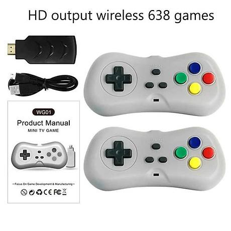 Máy Chơi Game 4 Nút HDMI Chơi Game PS1,Station Trên Tivi,Máy Trò Chơi Điện Tử Không Dây, Máy Game Stick 4K Điện Tử 4 Nút ( Tặng chai dầu tràm hoa nén) giao theo màu ngẫu nhiêni 3