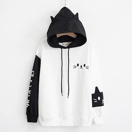 áo hoodie nỉ mèo xinh độc đáo 1