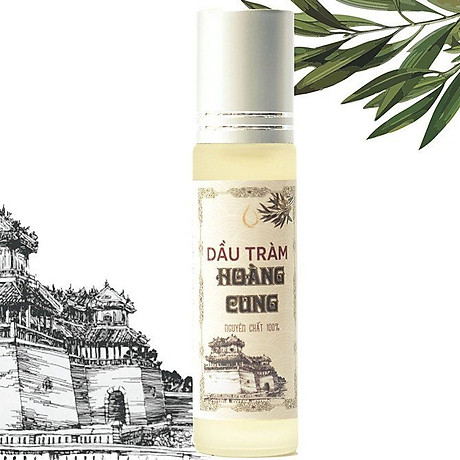 Bộ 4 chai tinh dầu tràm Huế - dầu tràm Hoàng Cung 10ml (chai lăn) 4
