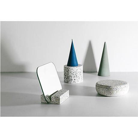 Gương để bàn Monote Terazo kèm đế giữ gương màu đá cao cấp 7