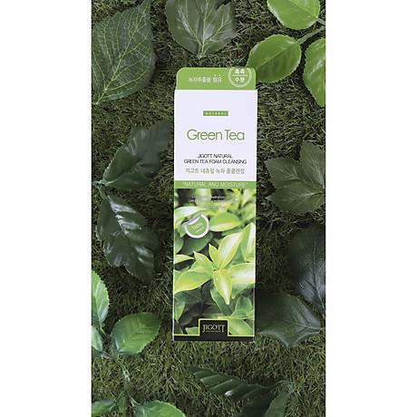 Sữa Rửa Mặt Trà Xanh Jigott Natural Green Tea Foam Cleansing 2