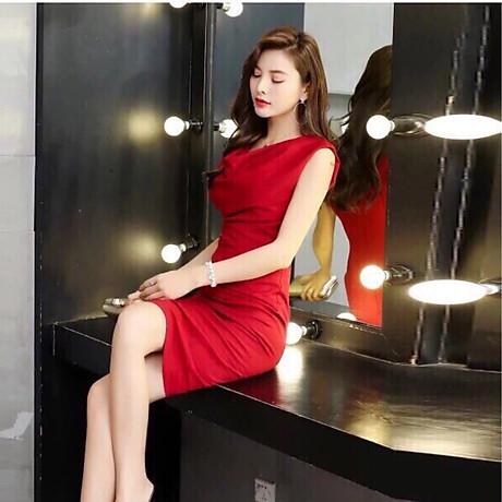 Đầm ôm đỏ cổ đổ ( dưới 60kg ) MAI017 5