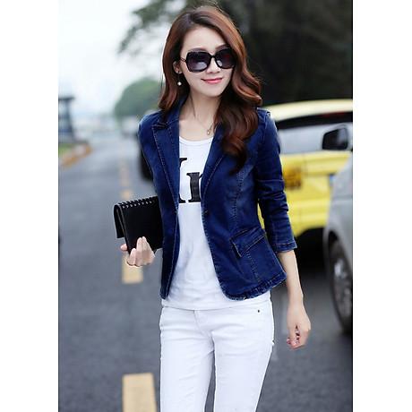 Áo khoác jean nữ cá tính cực xinh BY1068 1