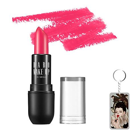 Son thỏi siêu lì chuẩn màu Dabo Make Up Real RouGe Matte Hàn Quốc No.101 (Magenta Pink) + Tặng Móc khoá 1