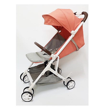 Xe đẩy du lịch cho bé tiện lợi nhỏ gọn màu cam đào 1