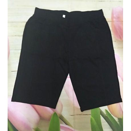 Quần legging nữ cho người mập chất cotton dáng lửng đến 75kg 1