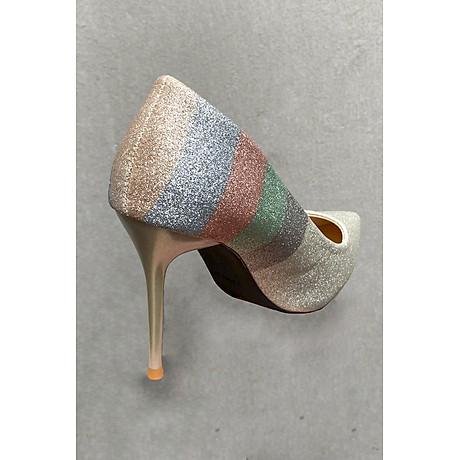 Giày Cao Gót Nữ 10p Phủ Nhũ 7 Màu 4