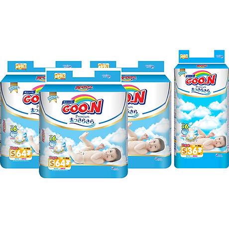 Combo 3 Gói Tã Dán Goo.n Premium Cực Đại S64 (64 Miếng) - Tặng 1 Tã Dán Đại S36 (36 Miếng) 1