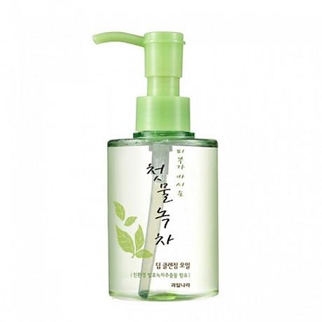 Tinh dầu tẩy trang thảo dược trà xanh Green Tea deep cleansing oil welcos 170ml tặng kèm móc khóa 4