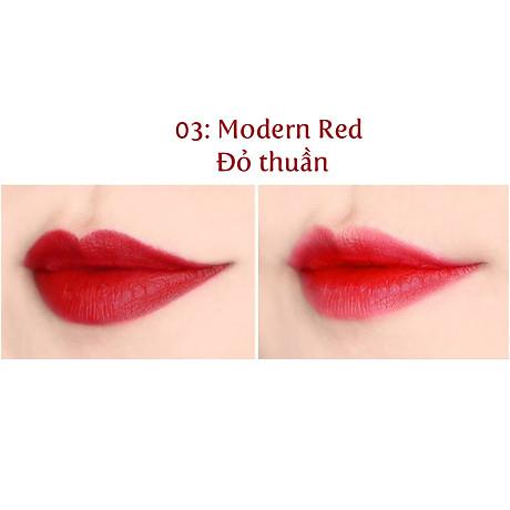 Son lì nhẹ môi Beauskin Rosedew Matte Creamy Hàn Quốc No.03 Đỏ thuần tặng kèm móc khóa 4