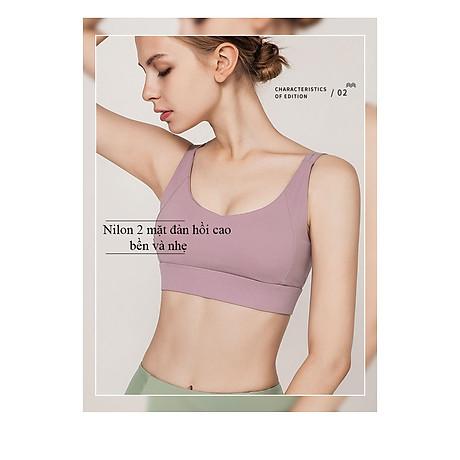 Áo Bra thể thao nữ, áo tập Gym Yoga mềm mịn, có đệm, kiểu áo lót mỏng mã WX-042 5
