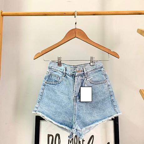 Quần short nữ chất jean cotton lưng cao M06 Julido, thời trangg trẻ trung một màu họa tiết trơn phối rách tua co dãn nhẹ có 3 kích thước 5