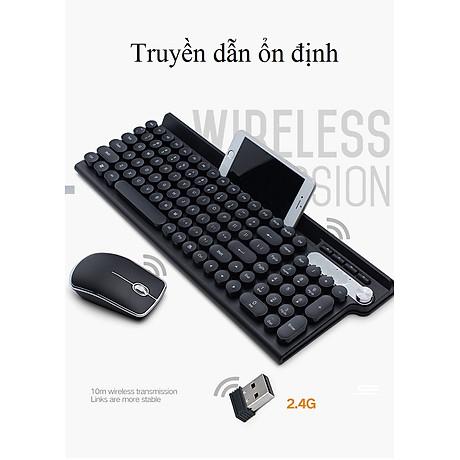 Bộ bàn phím và chuột không dây LT500 (Tặng kèm lót ) 4