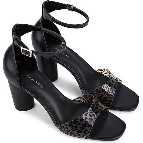Giày sandal cao gót quai họa tiết da báo - Sablanca 5050SN0113 1
