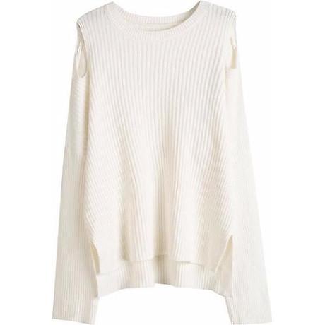 Áo len nữ dài tay khoét vai, Freesize 3