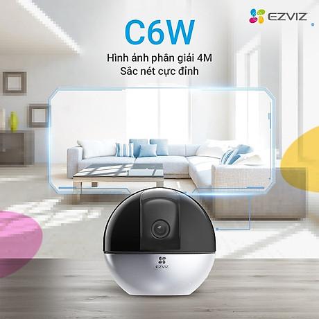 Camera IP - Camera Wifi EZVIZ C6W 4Mp ( Độ phân giải 2K ) - Đàm Thoại 2 Chiều - Theo Chuyển Động Thông Minh - Hàng chính hãng 1