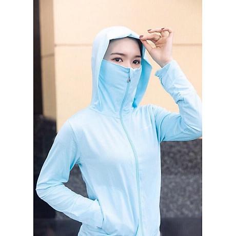 Áo khoác chống nắng cao cổ chất liệu vải mềm mịn thun co dãn dành cho nữ (size M) 1