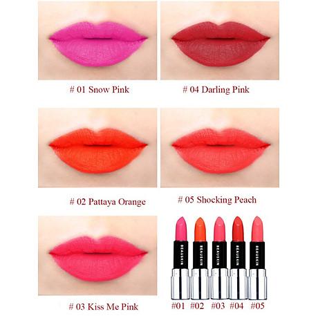 Son lì mềm môi Beauskin Luxury Darling Matte 3.5g + Móc khóa 3