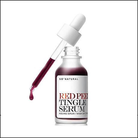 Tinh chất tái tạo da sinh học So Natural Red Peel Tingle Serum Tái tạo da 35ml+ Tặng kèm 1 mặt nạ sủi bọt Su m 37 Đen 2