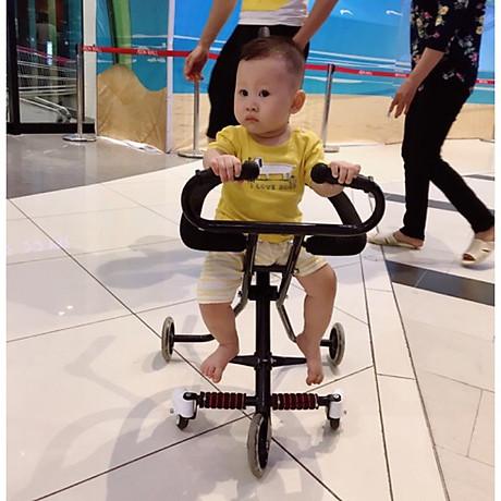 Xe đẩy 5 bánh gấp gọn thông minh cho bé (Tặng kèm giỏ + 01 khăn lau tay cho bé) 6