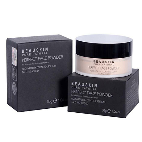 Phấn phủ bột Beauskin Perfect Face Powder Hàn Quốc 30g 21 Natural Beige tặng kèm móc khoá 5