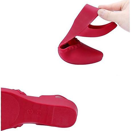 Giày nhựa đi mưa cao 3.5p, xăng đan phong cách Hàn Quốc màu đen, kem, hồng mẫu V192 6