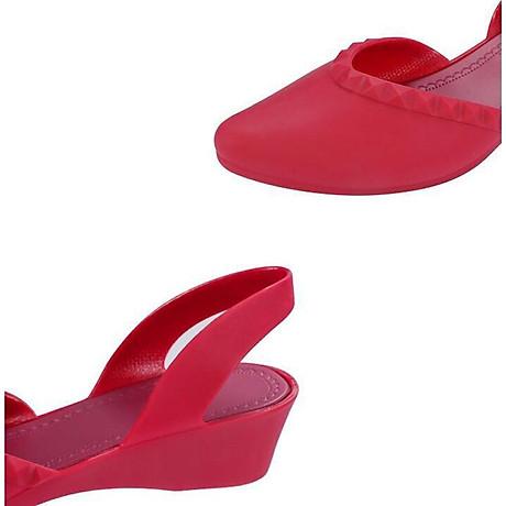 Giày nhựa đi mưa cao 3.5p, xăng đan phong cách Hàn Quốc màu đen, kem, hồng mẫu V192 7