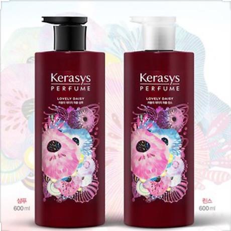 Dầu gội nước hoa hương cúc rừng và xạ hương Kerasys Lovely Daisy Hàn Quốc 600ml tặng kèm móc khóa 2